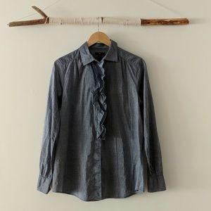 GAP chambray ruffle shirt